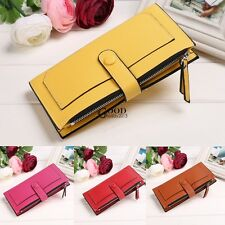 Womens Ladies Long Wallet Leather Zipper Coin Card Clutch Purse Handbag Bag TXGT