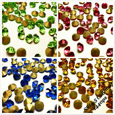 SS14.5 (3.5mm) Rhinestones Pointback Crystal Glass Strass Chaton Nail Art 1440ps