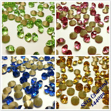 SS13 (3.2mm) Rhinestones Pointback Crystal Glass Strass Chaton Nail Art 1440ps