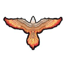 Flying Eagle With Flaming Wings Patch, Eagle Back Patches