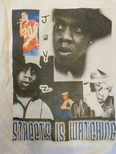 Mens New JAY Z White Short Sleeve Graphic T-Shirt - Streets is Watching -Hip-Hop