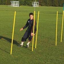 Packs of 3 - 1.7m Slalom Poles, Rubber Indoor Bases, Football, Rugby, Athletics