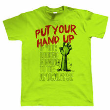 Put Your Hand Up Mens Funny Zombie T Shirt - Birthday Gift for Him Dad