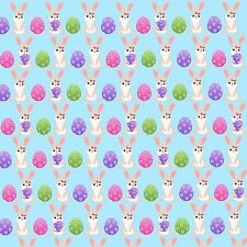 """GORGEOUS A4 """"EASTER"""" PRINTED  FABRIC SHEET..HAIR BOWS/GLITTER MIX  MATCH"""