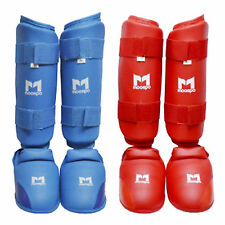 Karate Instep Shin Protectors Guards Pads Paddings Hook Loop Closure MMA Kongsoo