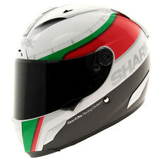 Shark Race R Pro Carbon - White / Green / Red Motorcycle Motorbike Helmet