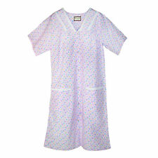 New Ten West Apparel Womens Button Front Short Sleeve Duster Robe