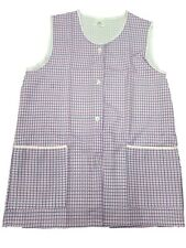 1 Ladies Dog-Tooth Tabard Tabbard Apron Work Overall / Lucy / Pink / All Sizes