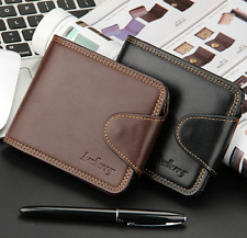 New Mens Bifold Wallet Money Clip Coin Bag Credit Card Holder Leather Purse