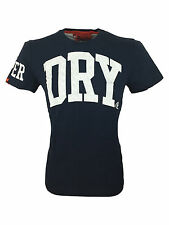 SALE // Mens Superdry Big Dry Tee T-Shirt in Imperial Navy Blue Size Small