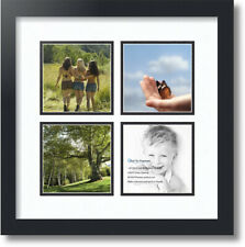 """ArtToFrames Collage Mat Picture Photo Frame - 4 5x5"""" Openings in Satin Black 4"""