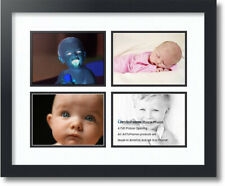 """ArtToFrames Collage Mat Picture Photo Frame - 4 5x7"""" Openings in Satin Black 12"""