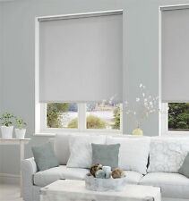 Light Grey Made To Measure Blackout Thermal Roller Blinds