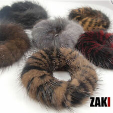 Real Genuine Mink Fur Hair Band Hairband Pony Tail Accessories