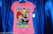 Angry Birds Neon Pink T Shirt Junior  Choose a Size T  Angry Birds Ring Earrings