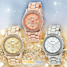 Luxury Watches Women Rose Gold Quartz Watch Classic Ladies Crystals geneva