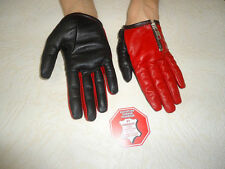 WOMENS  RED  AND  BLACK  LEATHER  DRIVING  GLOVES  SIZE 7, 7.5, 8,8.5