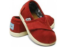 Tiny Toms Classics Red Infant Toddler Baby Boy Girl Canvas Shoes Size 2-11