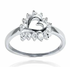 925 Sterling Silver Heart Ring with Cubic Zirconia