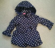 Ex George Baby Girls Blue Hooded Coat & Bag Age 12 - 18 & 18  - 24 Months NEW