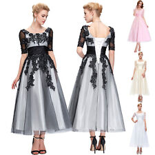 2017 Vintage Long Ball Gown Bridesmaid Prom Dress Evening Cocktail Party Wedding