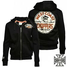 West Coast Choppers Zip Hoody Cheating Death Sweater jacket Knit Cardigan NEU