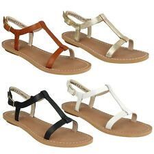 VOYAGE HOP LADIES CLARKS T BAR LEATHER CLASSIC CASUAL BEACH SUMMER FLAT SANDALS