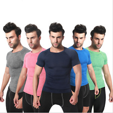 Men Athletic Compression Skin Under Base Layer Sports Top Gym Fitness Shirt