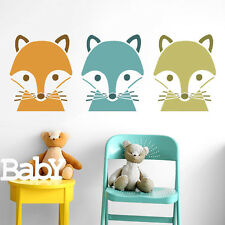 Fox Face Stencil Children's Nursery Decor Art Craft Painting Ideal Stencils