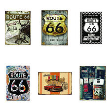 US Route 66 Highway Road Historic Metal Tin Sign Plaque Home Wall Decor Virtuous