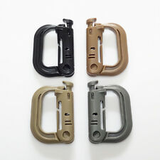 4pcs Molle D-Ring Tactical Backpack EDC Clip Locking Buckle Quick Carabiner