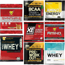 OPTIMUM NUTRITION SAMPLES Gold Standard BCAA Pre-Workout 100% Whey Protein