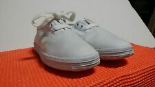 Girls Small Canvas RABEN Shoes WHITE various UK sizes 30/31/32/33/34 AUS 11-2