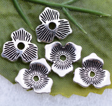 Wholesale Tibetan silver flower lovely shell charms spacer beads 2x11mm  #5445