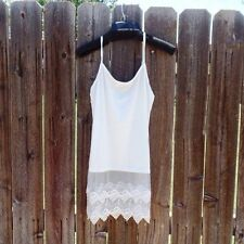 Dress Knitted Strap Vest Sleeveless Tank Top Shirt Blouse Lace Spaghetti