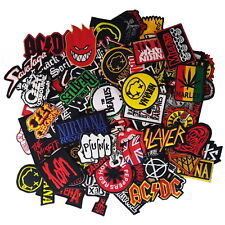 Wholesale Lot Music Punk Rock Heavy Metal Mix Band Embroidered Sew Iron On Patch