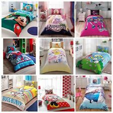 KIDS LICENSED Cartoons Bedding 100% COTTON Single Twin Quilt Duvet Cover Set 3Pc