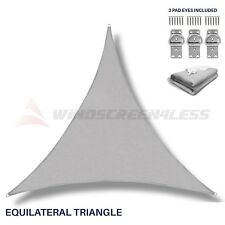 Sun Shade Sail Light Grey Triangle  Canopy Awning  Patio Pool Outdoor UV Cover