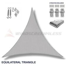 Sun Shade Sail Light Grey Triangle Canopy Awning Patio Pool Outdoor UV 6 in Kit