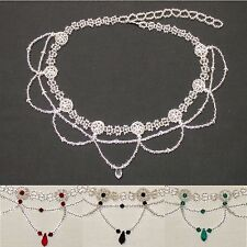 sch3 Bridal/Prom Choker featuring Swarovski Crystals (silver/various)