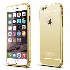 New Luxury Aluminum Ultra Thin Mirror Metal Case Cover Bumper For iPhone 5S 6 6S