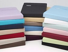"Real 300 Thread Count 1PC Fitted Sheet Solid Super Soft Fit Upto 15"" Deep Pocket"