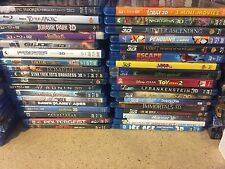 blu-ray 3d movies, your choice, 3D copy only, Excellent condition