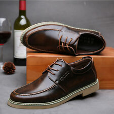 Mens Formal Casual Oxfords Leather shoes Flat Lace up Dress Business Comfortable