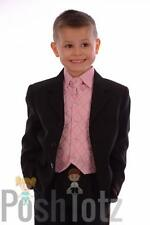 Baby Boys Suits, Formal, Wedding ,Pageboy 5pc Pink & Black Suit (0-3mths-15yrs)