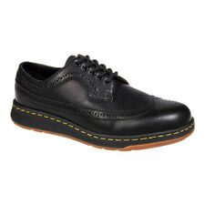 Dr Martens Black Gabe Wingtip Rubber Soled Lace Up Brogue Style Classic Shoes