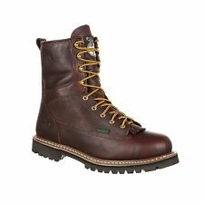 "Georgia Boot Men's 8"" Waterproof Steel Toe Lace-To-Toe Work Boot-G103"