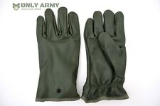 NATO Military Issue Leather Gloves Olive Green Combat Cold Weather Lined Gloves
