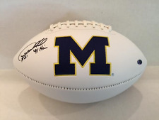 Desmond Howard Signed Michigan White Panel Football Heisman '91 Insc COA/Hol/Pic