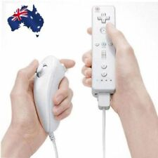 Built in Motion Plus Remote Nunchuck Controller 2 in1 Set For Wii U Wii White CH